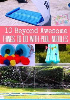 Pool Noodles are inexpensive, durable material which is very easy to craft with. Parents and Kids alike can also have lots of fun with these pool noodle ac