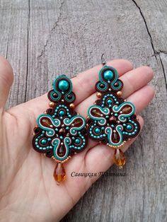 Orecchini turchese marrone Beautifult di MagicalSoutache su Etsy