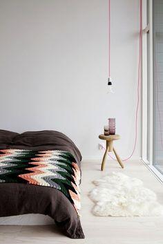 By Finnish stylist Susanna Vento. Knitted blanket. At Lovenordic Design Blog