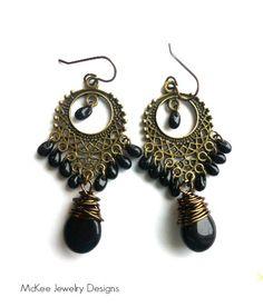 black dangle earrings - Google Search