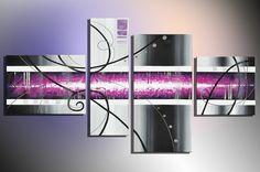 """Bilderdepot24 """"Art M7"""" Tableau Peinture, Sur Toile, Peint À La Main, 120x70cm Ensemble De 4 Pièces 3013"""