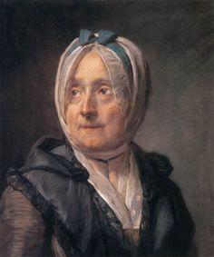 Madame Chardin 1775. Pastel on blue paper, 46 x 38 cm. Musée du Louvre, Paris