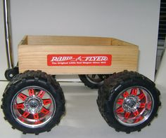 Vintage Custom 4x4 Wooden Wagon