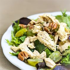 Rosemary Poached Chicken Salad with Grapes and Pecans by @healthyaperture - #KeepOnCooking