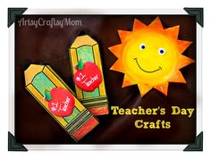"Artsy Craftsy Mom: Teacher's day Special -Pencil card with template & ""You are my Sunshine"" Styrofoam Sun"