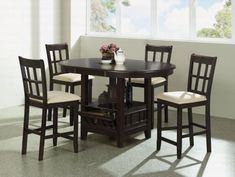 Cherry Counter Height Dining Room Set at GoWFB.ca | Coaster Company - Cherry Counter Height Dining Room Set by Coaster Company