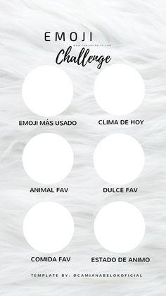 Emoji challenge instagram plantilla template for stories historias