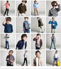 little boy poses