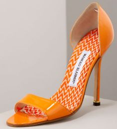 b653d905134 Manolo Blanik Orange Shoes OMG must have before i die