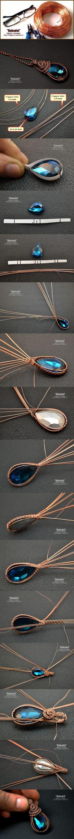 Wire Wrap Tutorial Подвеска с кристаллом