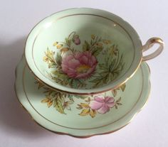EB Foley China Tea Cup & Saucer Amapola por NicerThanNewVintage