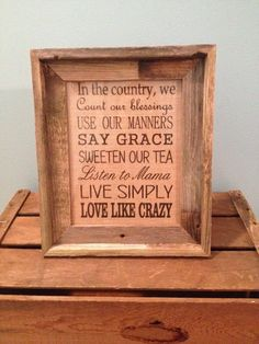 In the country family rules burlap picture-PRINT by LilBlessingsCC