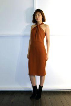 Twist Neck Dress AW16 One Shoulder, Shoulder Dress, How To Wear, Dresses, Fashion, Vestidos, Moda, Fashion Styles, Dress