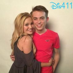 """Photo: Dylan Riley Synder With Olivia Holt At The """"I Didn't Do It"""" Wrap Party March 18, 2014"""