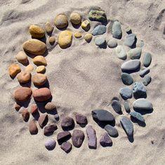 color wheel in rocks