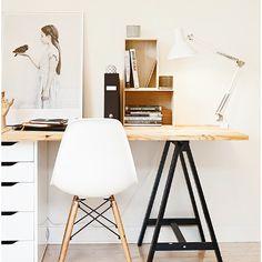 Black white & wood IKEA gerton (?) + oddvald + alex