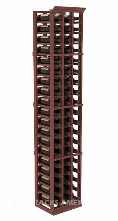 """Five Star Series: 3 Column 57 Bottle Standard Wine Cellar Rack in Mahogany with Cherry Stain +Satin Finish by Wine Racks America®. $353.25. 11/16"""" wood thickness. Designed for 750ml wine bottles. Some assembly required .. Bottle capacity: 57 bottles (750ml). Industry 1-1/2"""" toe-kick keeps your wine off the floor.. Choose From either Pine, Redwood, or Mahogany along with optional Industry Leading Quality Eco-Friendly Stains Paired with an Immaculate Satin Finish. Each have c..."""
