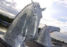 Horse Head All Pinterest Horse Head - Amazing horse head sculpture lights scottish skyline