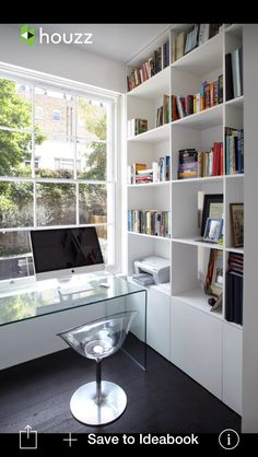 an affordable black and white and modern renovation | office nook