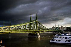 Szabadság híd (Liberty Bridge / Freiheitsbrücke / Pont de la liberté) Budapest City, Bridge, Bridge Pattern, Bridges, Attic, Bro
