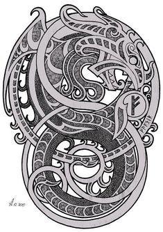 Tatto Viking, Norse Tattoo, Celtic Tattoos, Wiccan Tattoos, Inca Tattoo, Indian Tattoos, Viking Symbols, Viking Art, Viking Runes