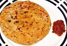 Indian stuffed bread or Alloo paratha
