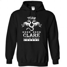 CLARE-the-awesome - #oversized shirt #grey sweater. BUY NOW => https://www.sunfrog.com/LifeStyle/CLARE-the-awesome-Black-72591582-Hoodie.html?68278