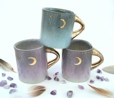 "sosuperawesome: "" Mugs, Planters and Incense Holders, by Kira Call on Etsy See our 'ceramics' tag "" Coffee Cups, Tea Cups, Kitchen Decor Themes, Home Decor, Mason Jars, Cute Mugs, Pretty Mugs, Tea Party, Sweet Home"