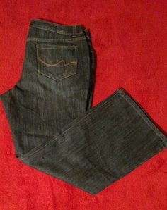 Faded Glory Women's Dark Wash Boot Cut Blue Jeans Size 18P #FadedGlory #BootCut