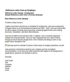 4 job reference letter templates free word pdf