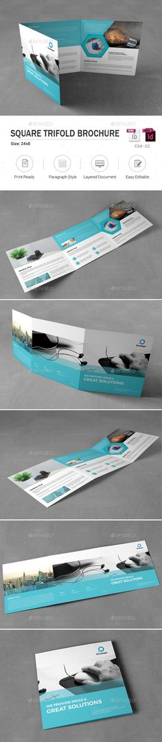 Buy Square Corporate Trifold Brochure by OrcShape on GraphicRiver. Square Corporate Trifold Brochure Template can be used for any business purpose or others Projects. Very easy to Cust. Indesign Templates, Flyer Design Templates, Travel Brochure Template, Brochure Design, Corporate Brochure, Brochure Trifold, Brochures, Catalogue Layout, Cleaning Companies