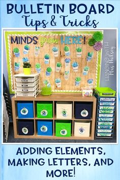 Bulletin board tips and tricks: adding elements, how to make your own letters, and creating a cohesive look to your classroom! Calendar Bulletin Boards, Reading Bulletin Boards, Bulletin Board Letters, Classroom Layout, 2nd Grade Classroom, Classroom Bulletin Boards, Classroom Design, Future Classroom, Classroom Themes