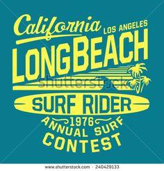 California sport surf typography, t-shirt graphics, vectors