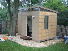 David van Alphens Modern Shed Storage sheds Shed roof and How
