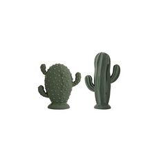 Our Green Ceramic Cactus Decor Set of 2 are made of porcelain and decorated in green glaze. Works alone or in a group of object and vases. Set of 2 cactus ornaments Dimensions: 13 x x 17 cm Material: Porcelain Green Cactus, Cactus Vert, Cactus Flower, Cactus Plants, Cacti, Succulent Plants, Succulents, Decorative Accessories, Decorative Items
