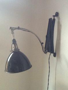 Midgard Curt Fischer Scherenlampe Bauhaus o. Art Deco 20er Jahre Scissor Lamp
