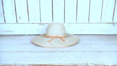 Vintage light tan brown straw sun hat/Happy Cappers woven gardening hat/beach hat by GreenCanyonTradingCo on Etsy