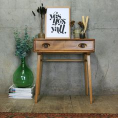 Mid Century Desk, Mid Century Style, Mid Century Furniture, Ercol Furniture, Vintage Furniture, Home Furniture, Home Living Room, Living Room Decor, Drawer Design