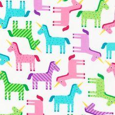 Sweet Unicorns From Robert Kaufman 1 Yard by StitchStashDiva, $8.95