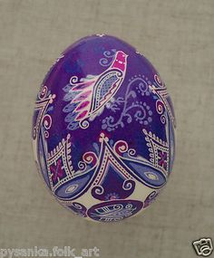 "Ukraine Pysanka by Oleh K Chicken Easter Egg Weight 2 28"" in Pysanky 