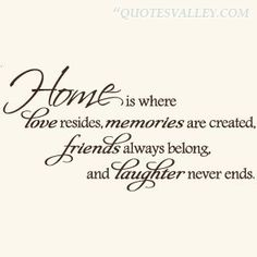 Love Quotes Ideas : home-is-where-love-resides-memories-are-creathed - Home Quotes and Sayings - Quotes Sayings Home Quotes And Sayings, Wall Quotes, Great Quotes, Quotes To Live By, Love Quotes, Inspirational Quotes, Quotes About Home, Piano Quotes, New Home Quotes