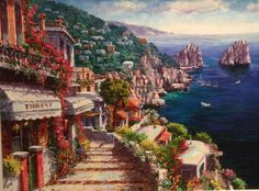 Oil, Painting, Urban Landscape, Scenery, Paintings, Draw, Cooking Oil, Drawings, Butter