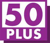 Dit is het logo van de 50+partij. Een doelgroep-partij, die in dit geval opkomt voor de belangen van de 50-plussers. JuliaB