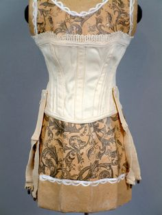 *CORSET FLASH SALE* Gorgeous c. 1890 Overbust Corset For French Bebe from kathylibratysantiques on Ruby Lane
