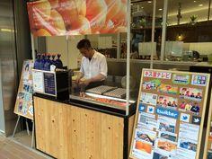 ベビーカステラの青いレンガさん。 三国ヶ丘駅前の成城石井さんの入口でやってます。 バリうま(^^)