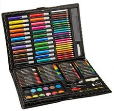Darice Deluxe Art Set – Art Supplies for Drawing, Painting and More in a Plastic Case - Makes a Great Gift for Children and Adults: Arts Crafts Sewing: New Releases - Early Bird Special Art Sets For Kids, Kits For Kids, Art Kids, Drawing For Kids, Painting For Kids, Drawing Art, Art Drawings, Artist Supplies, Craft Supplies