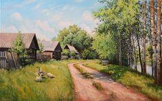 Картина маслом   Родная деревня-это частичка нашей души, продолжение нашего я, которое неизменно притягивает к себе🛤 Наш сайт http://gallerr.ru Заказать http://gallerr.ru/fzakaza2 По вопросам пишите в личку
