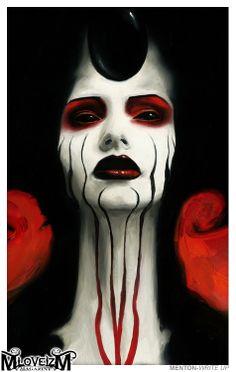 Goth vamp art, Menton3
