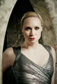 Gwendoline Christie, glamming it up. Short hair, don't care!