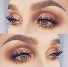 Eye Makeup Tips – How To Apply Eyeliner – Makeup Design Ideas Neutral Eye Makeup, Gold Eye Makeup, Neutral Eyes, Colorful Eye Makeup, Makeup For Green Eyes, Eye Makeup Tips, Makeup Hacks, Smokey Eye Makeup, Makeup Inspo